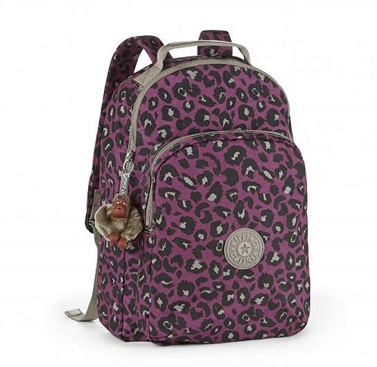 OUTLET代購【KIPLING】彩紫豹紋旅行後背包