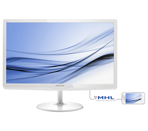 飛利浦 PHILIPS 24吋 電腦螢幕 IPS-ADS寬螢幕 (MHL-HDMI/DVI/D-sub)內建喇叭 白