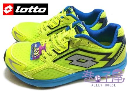 【巷子屋】義大利第一品牌-LOTTO樂得 RUNNING 男款疾風路跑鞋 [2224] 螢光黃 超值價$690