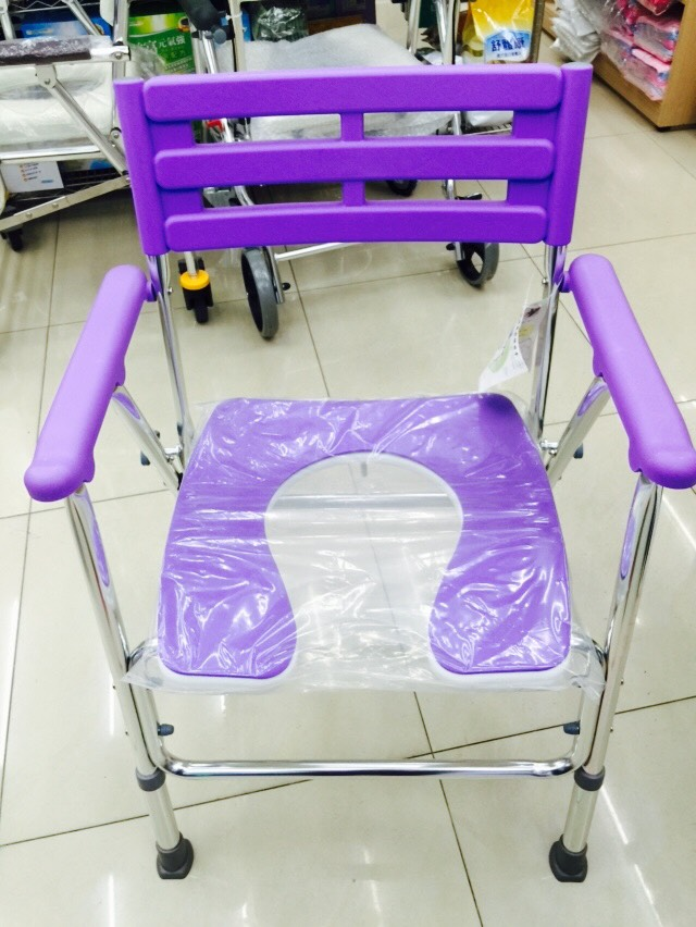 永大醫療~杏華107-鋁合金日式前抽收合便器椅/洗澡椅特價1980元