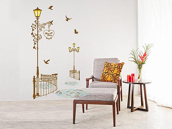 BO雜貨【YV3852】創意可移動壁貼 牆貼 背景貼 壁貼樹 時尚組合壁貼 黃昏漫步