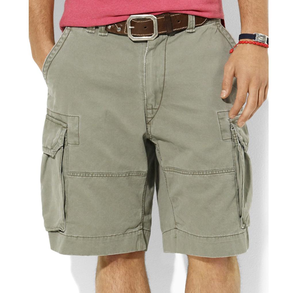 美國百分百【全新真品】Ralph Lauren 褲子 RL 男褲 POLO 短褲 工作褲 橄欖綠 30腰 A190