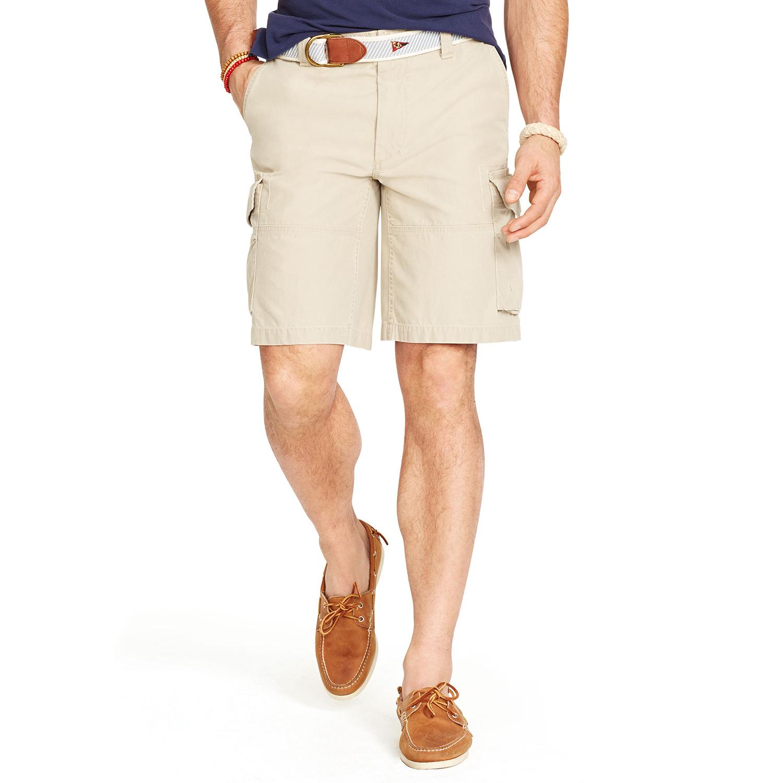 美國百分百【全新真品】Ralph Lauren 褲子 RL 男褲 POLO 短褲 工作褲 淺卡其 33腰 F547