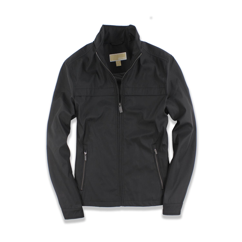 美國百分百【全新真品】Michael Kors 外套 MK 夾克 立領 休閒 商務 修身 風衣 黑色 男 S號 F587
