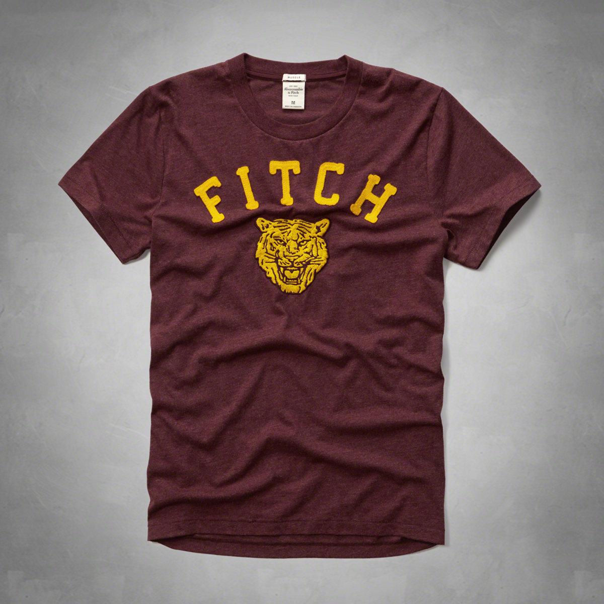 美國百分百【Abercrombie & Fitch】T恤 AF 短袖 T-shirt 麋鹿 虎頭 紅色 特價 S M L XL號 F597