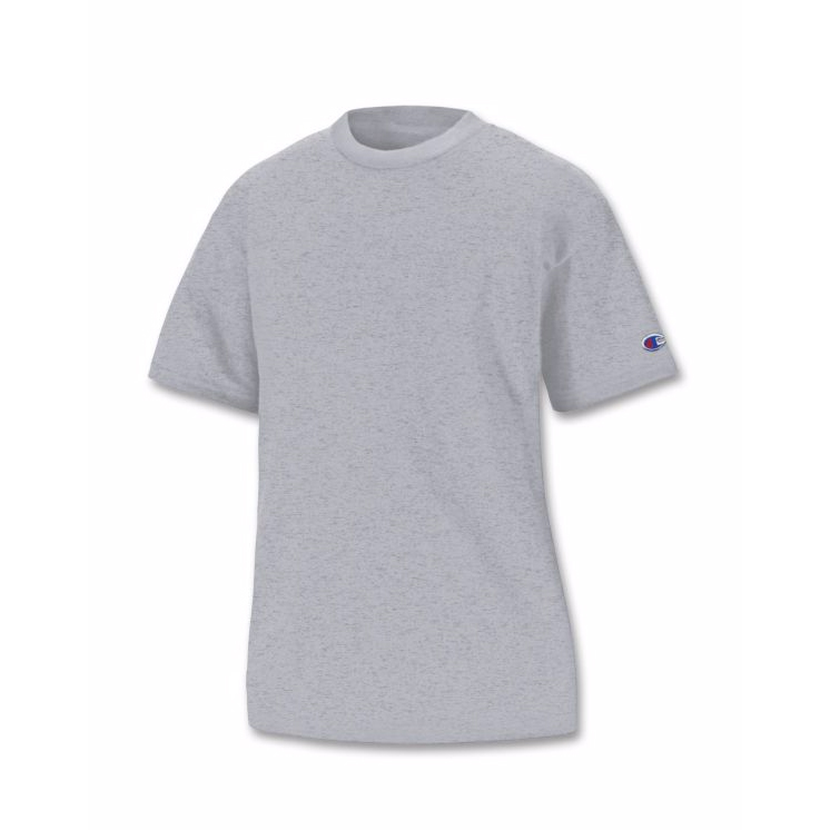 美國百分百【Champion】冠軍 T恤 短袖 T-shirt logo 素T 排汗 快乾 高磅數 灰色 XS S號 F386