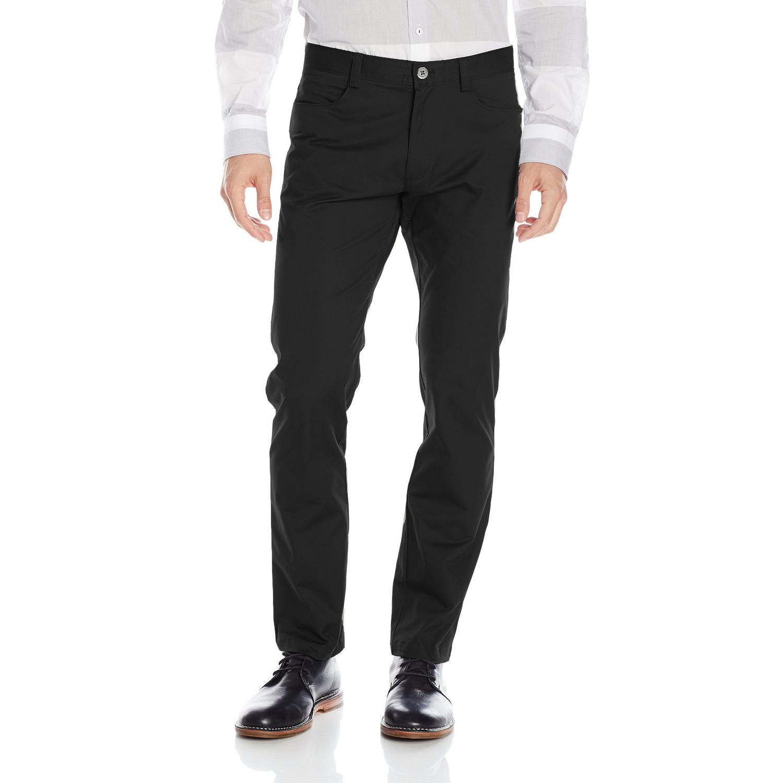 美國百分百【全新真品】Calvin Klein 休閒褲 CK 長褲 褲子 牛仔褲 合身 男 黑色 30 32腰 F655
