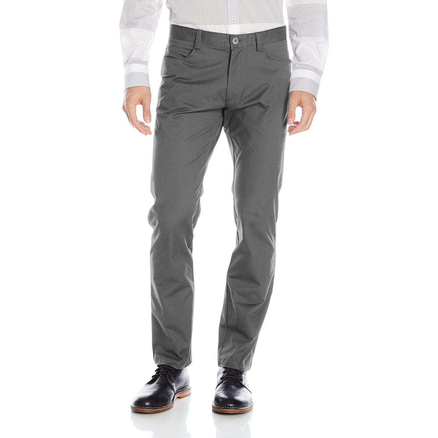 美國百分百【全新真品】Calvin Klein 休閒褲 CK 長褲 褲子 牛仔褲 合身 男 灰色 32腰 F655