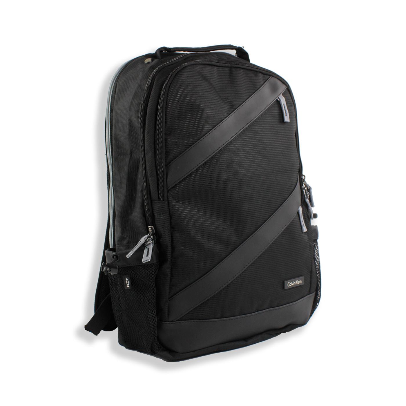 美國百分百【全新真品】Calvin Klein 後背包 公事包 電腦包 上班 通勤 上課 旅行 CK 黑色 F761