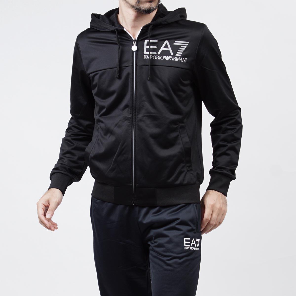 美國百分百【全新真品】Emporio Armani 外套 連帽 夾克 EA7 尼龍 運動 黑色 XS S號 F825