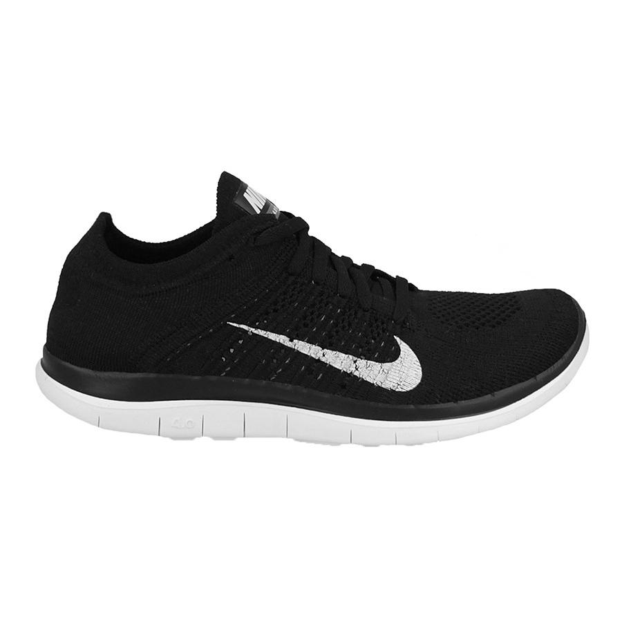 美國百分百【Nike】Free 4.0 Flyknit 耐吉 鞋子 慢跑鞋 運動鞋 球鞋 編織 赤足 黑白 男款 US 10、10.5號 G030