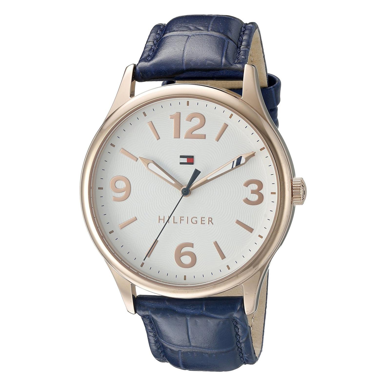 美國百分百【全新真品】Tommy Hilfiger 配件 手錶 TH 腕錶 石英 皮質 深藍 女錶 手鍊 禮盒 G104