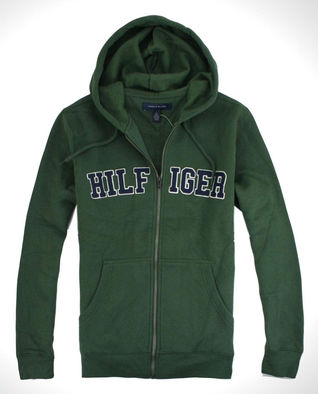 美國百分百【全新真品】Tommy Hilfiger 外套 男 連帽 抽繩 夾克 帽T 質厚 TH綠色 免運 S M
