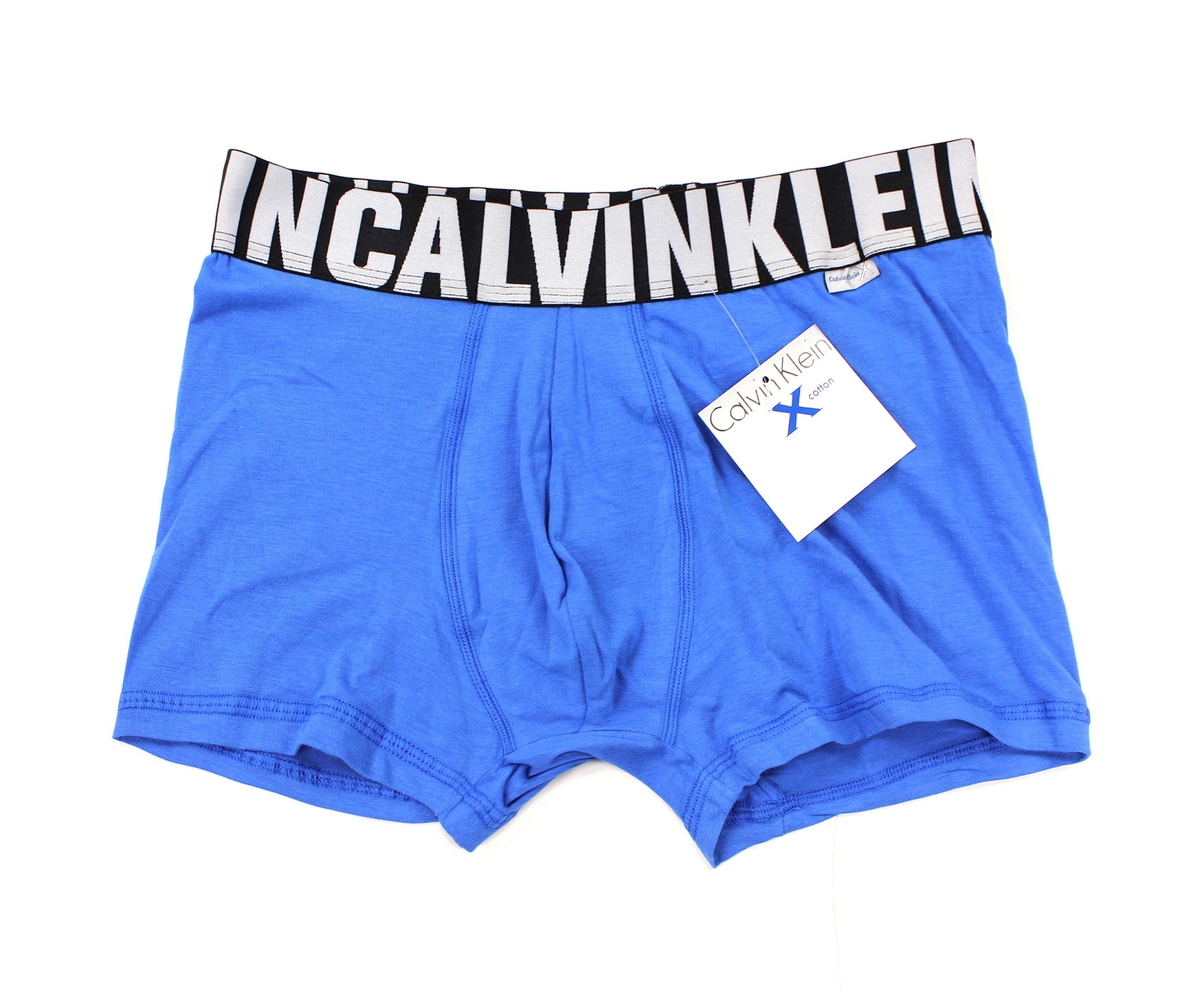 美國百分百【全新真品】Calvin Klein 內褲 CK 四角褲 平口褲 褲子 寶藍 棉質 鬆緊 彈性 男 M L XL