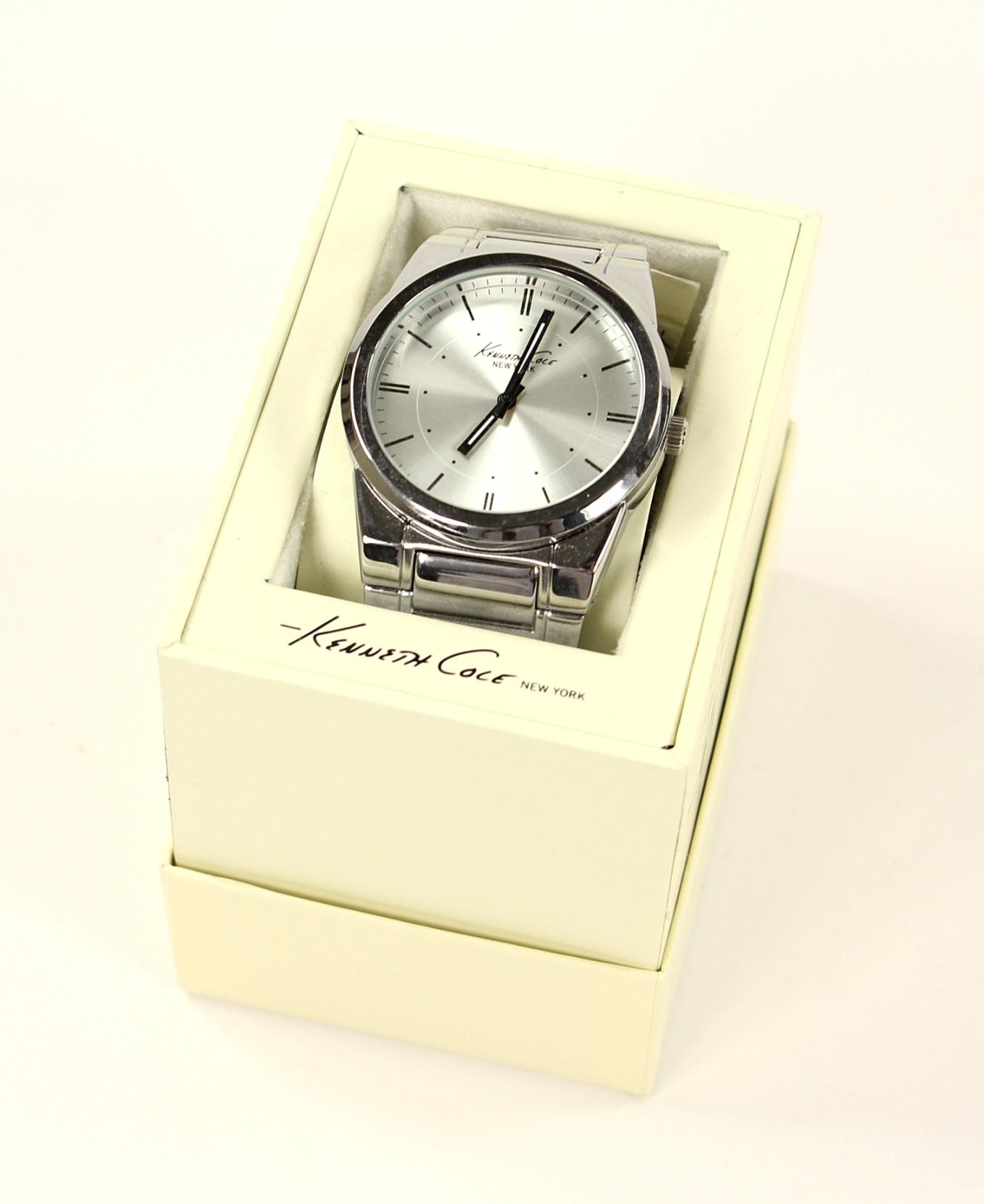 美國百分百【全新真品】Kenneth Cole 手錶 KC 配件 石英錶 不鏽鋼 對錶 禮物 禮盒 銀 男 女 3007