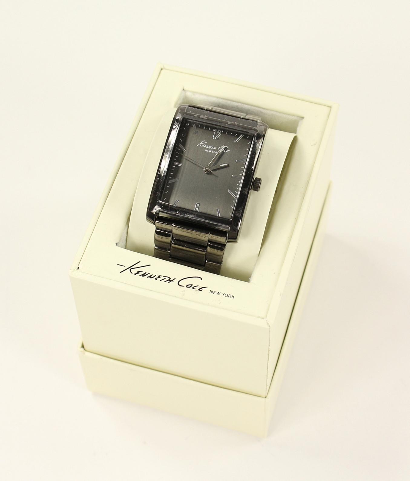 美國百分百【全新真品】Kenneth Cole 手錶 KC 配件 石英錶 不鏽鋼 對錶 禮物 禮盒 黑 男 女 3005