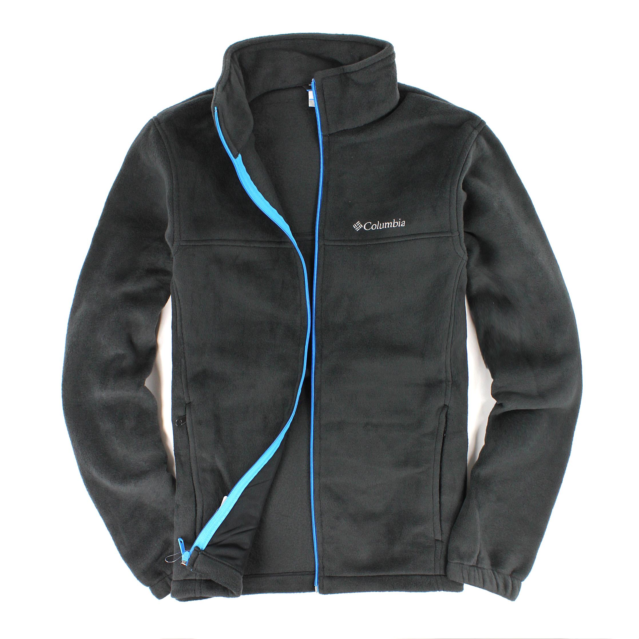 美國百分百【全新真品】Columbia 外套 上衣 夾克 刷毛外套 哥倫比亞 黑 保暖 立領 輕巧 男 S M