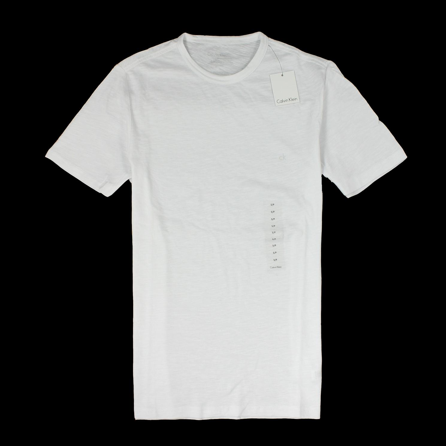 美國百分百【全新真品】Calvin Klein T恤 CK 短袖 上衣 T-shirt 短T 白 素面 圓領 Logo 純棉 男 S號