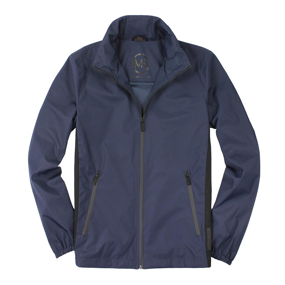 美國百分百【全新真品】Michael Kors 外套 MK 夾克 連帽外套 風衣 深藍 防水 Logo 男 S M號 A877