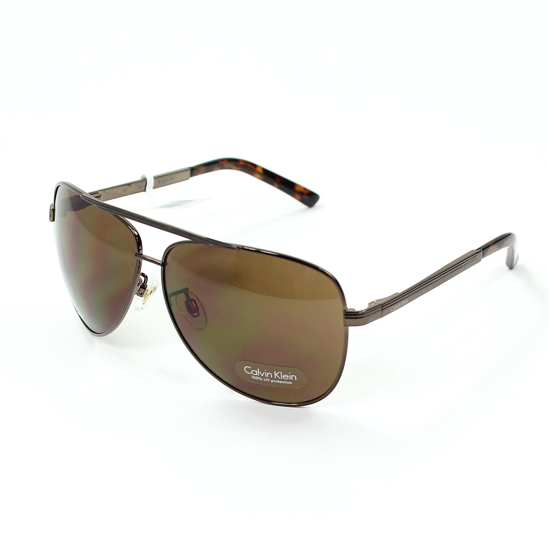 美國百分百【全新真品】Calvin Klein 眼鏡 CK 太陽眼鏡 墨鏡 咖啡 飛行 玳瑁 抗UV 男 女 E089