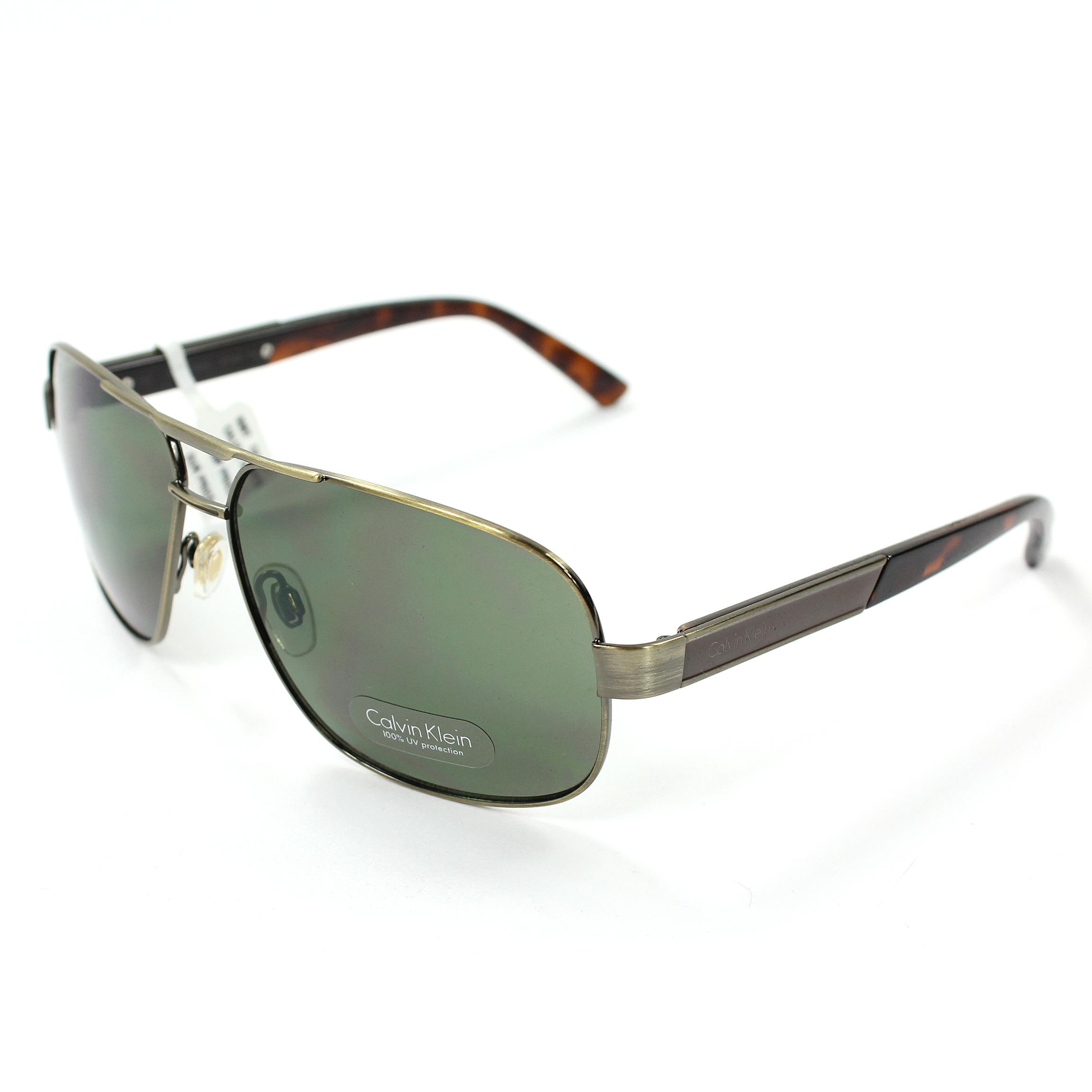 美國百分百【全新真品】Calvin Klein 眼鏡 CK 太陽眼鏡 墨鏡 古銅金 飛行 玳瑁 抗UV 男 女 E080