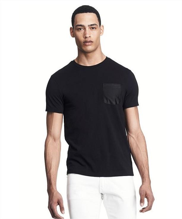 美國百分百【全新真品】Armani Exchange T恤 AX 短袖 上衣 T-shirt 亞曼尼 黑 口袋 素面 XS L XL XXL