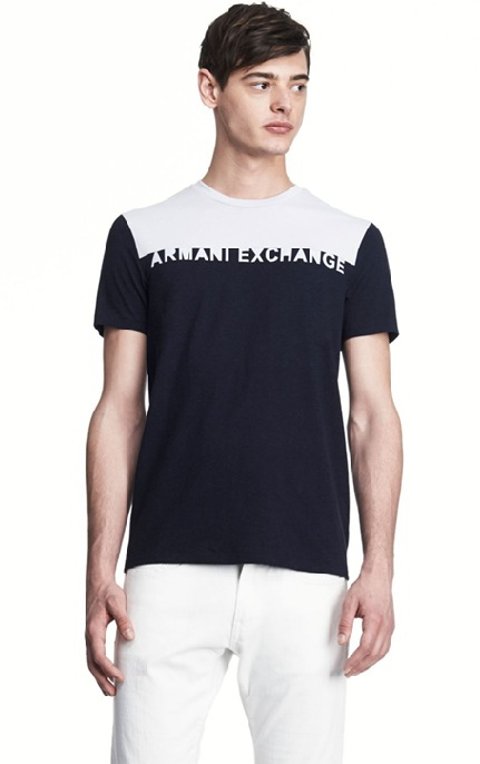 美國百分百【全新真品】Armani Exchange T恤 AX 短袖 上衣 T-shirt 亞曼尼 白灰 黑 Logo 文字 S M L號 F344