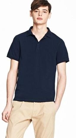 美國百分百【全新真品】Armani Exchange Polo衫 AX 短袖 上衣 深藍 亞曼尼 網眼 素面 男衣 S M號 C277