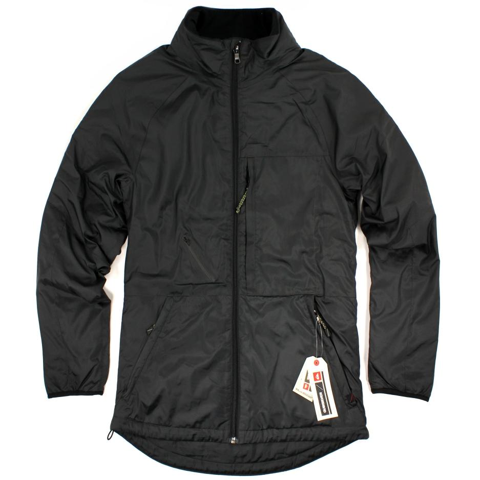 美國百分百【全新真品】Quiksilver 外套 夾克 防風 防潑水 防寒 透氣 保暖 立領 口袋 S號 黑色 E175