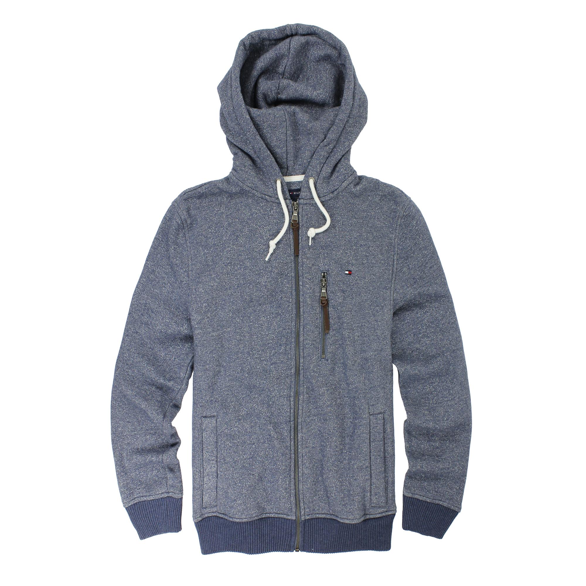 美國百分百【全新真品】Tommy Hilfiger 外套 TH 男 藏藍色 夾克 連帽 帽T 經典 S M L E354