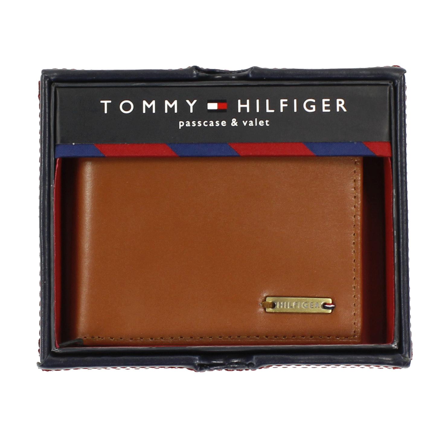 美國百分百【全新真品】Tommy Hilfiger 皮夾 TH 男生 錢包 皮包 短夾 禮盒 鈔票夾 黃褐色 E377