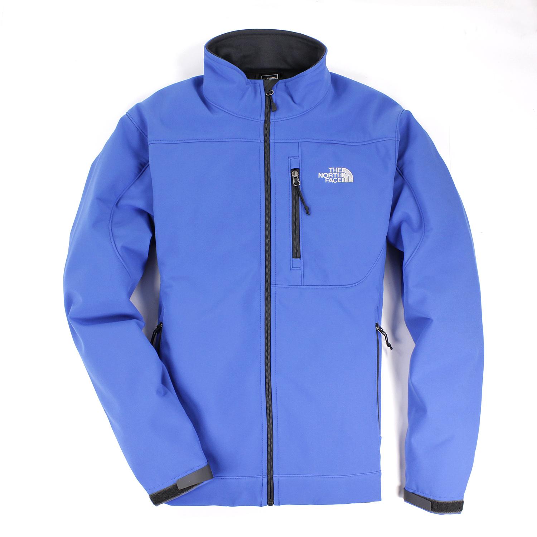 美國百分百【全新真品】The North Face 男衣 保暖 登山 防風 外套 防水 軟殼 夾克 藍 S M B961
