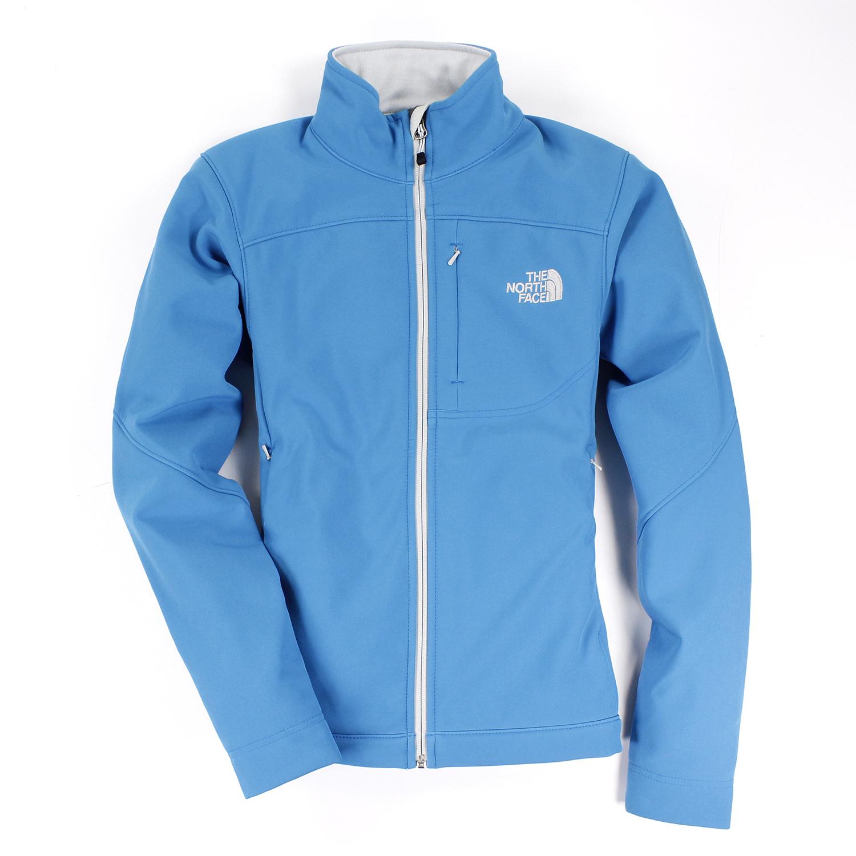 美國百分百【The North Face】女衣 保暖 登山 防風 外套 防水 軟殼 夾克 藍 S M L號 E404