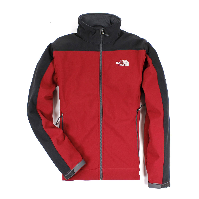 美國百分百【The North Face】 男衣 保暖 登山 防風 外套 防水 軟殼 夾克 紅 S M L號 E405