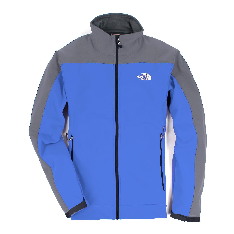 美國百分百【The North Face】 男衣 保暖 登山 防風 外套 防水 軟殼 夾克 藍 灰 S M號 E405