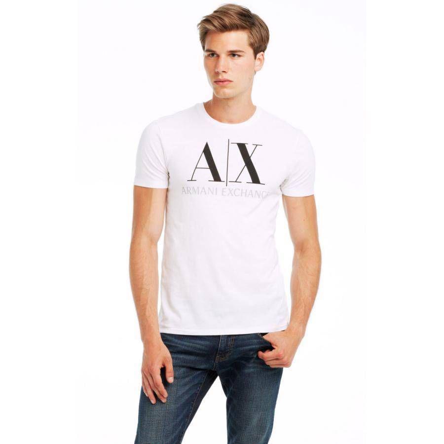 美國百分百【全新真品】Armani Exchange T恤 AX 短袖 上衣 T-shirt 白色 XS S號 E677