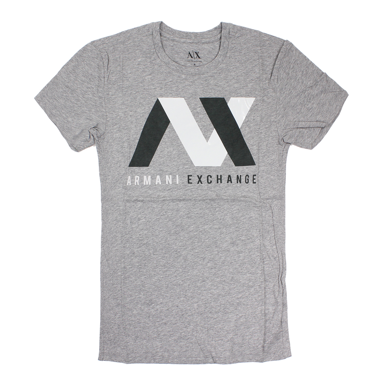 美國百分百【全新真品】Armani Exchange T恤 AX 短袖 上衣 T-shirt 灰色 S M號 E777