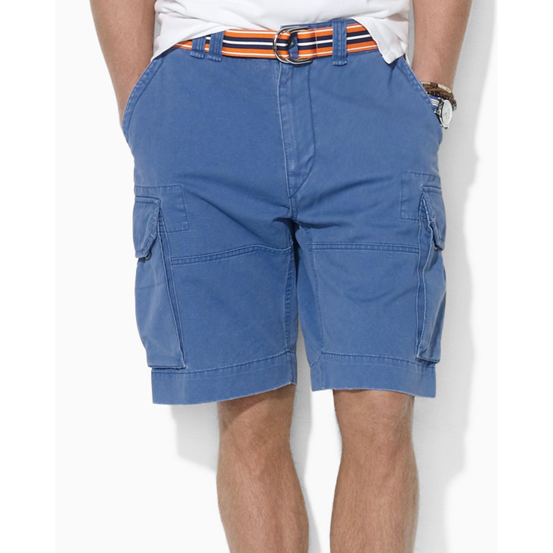 美國百分百【全新真品】Ralph Lauren RL 男褲 POLO 短褲 工作褲 藍色 31 32腰 A190