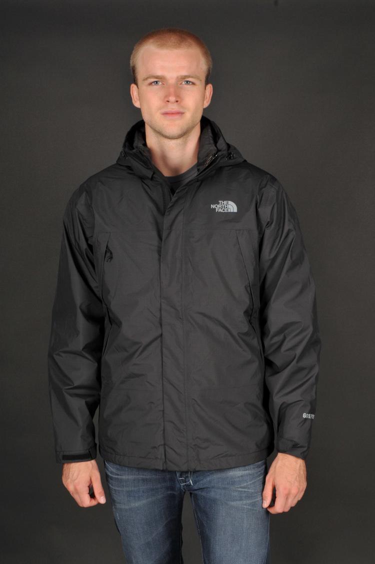 美國百分百【The North Face】外套 TNF 羽絨 夾克 GORE-TEX 兩件式 防寒 黑色 S號 E671