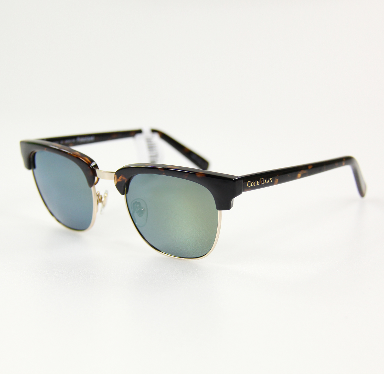 美國百分百【COLE HAAN】太陽眼鏡 墨鏡 配件 眼鏡 抗UV 時尚 潮流 膠框 玳瑁 琥珀 綠鏡 男 女 F058