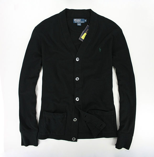 美國百分百【全新真品】Ralph Lauren RL polo 男款 開扣 外套 薄款 棉質 罩衫 黑色 S M 免運 C081