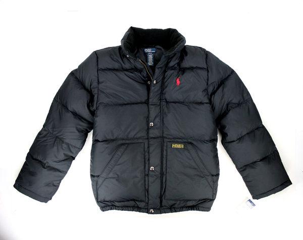 美國百分百【全新真品】Ralph Lauren RL 男 羽絨外套 保暖夾克 黑 POLO 防寒 外衣 S號