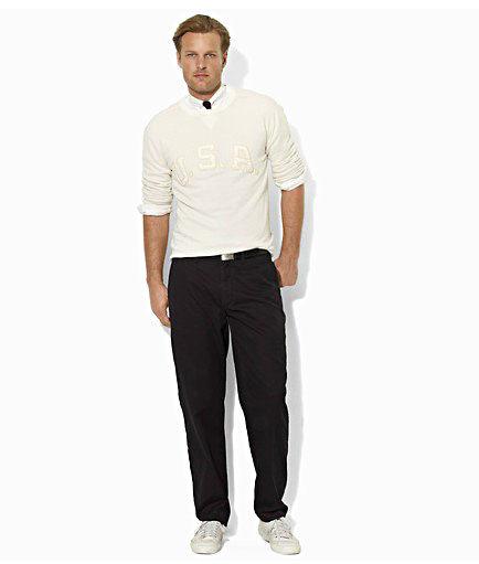 美國百分百【全新真品】Ralph Lauren RL 皮革 彩色緞面 長褲 休閒 工作褲 男褲 黑 32 33 36腰