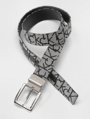 美國百分百【全新真品】Calvin Klein CK 男生 兩用皮帶 灰 緹花布 腰帶 專櫃款 S M L 代購 黑色款 XL