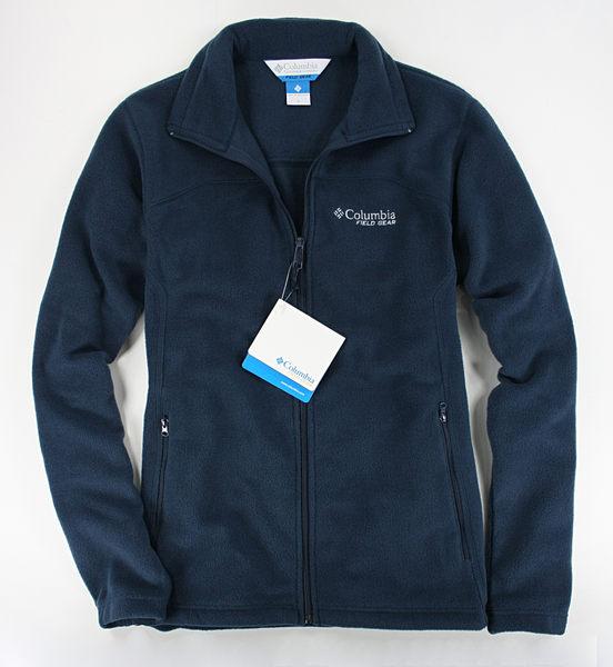 美國百分百【全新真品】Columbia 哥倫比亞 男款 運動 外套 翻領夾克 保暖 刷毛 藍 M 免運