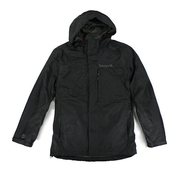 美國百分百【全新真品】Timberland 男 連帽 外套 擋風 防水 夾克 風衣 騎士 Oeko-tex 黑色 M L