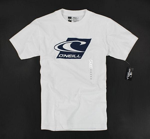 美國百分百【全新真品】Oneill 海洋音樂祭 衝浪T 簡約 logoT 夏季 男生 短袖 T恤 T-shirt 白色S