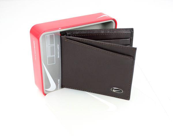 美國百分百【全新真品】Nike golf 男 造型 多功能 皮夾 錢包 運動風 卡片夾 短夾 咖啡 超取