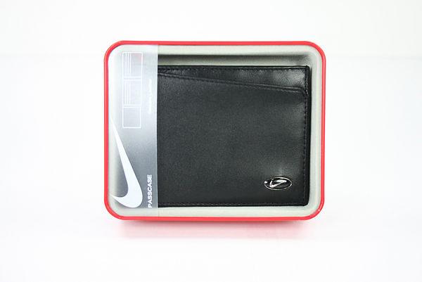 美國百分百【全新真品】Nike golf 男 皮夾 黑 logo 小牛皮 皮包 鈔票 卡片 照片夾 短夾 超取