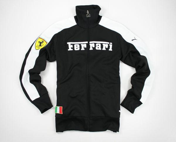 美國百分百【全新真品】Ferrari Puma Track Sweat Top 法拉利 賽道 男衣 外套 S號 C053